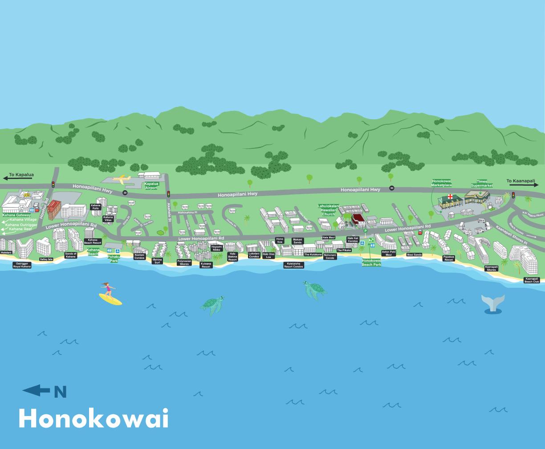 Honokowai Map OF